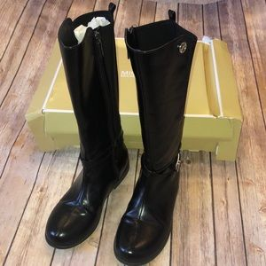 Michael Kors girls black boots